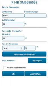 GW-Mobil Dateneingabe