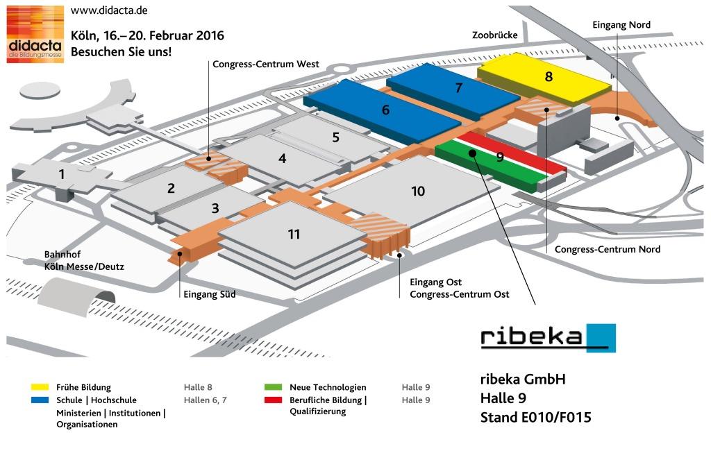 Didacta 2016 - Lageplan